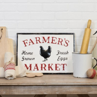 "MTL. SIGN ""FARMERS MARKET"" (12/cs)"