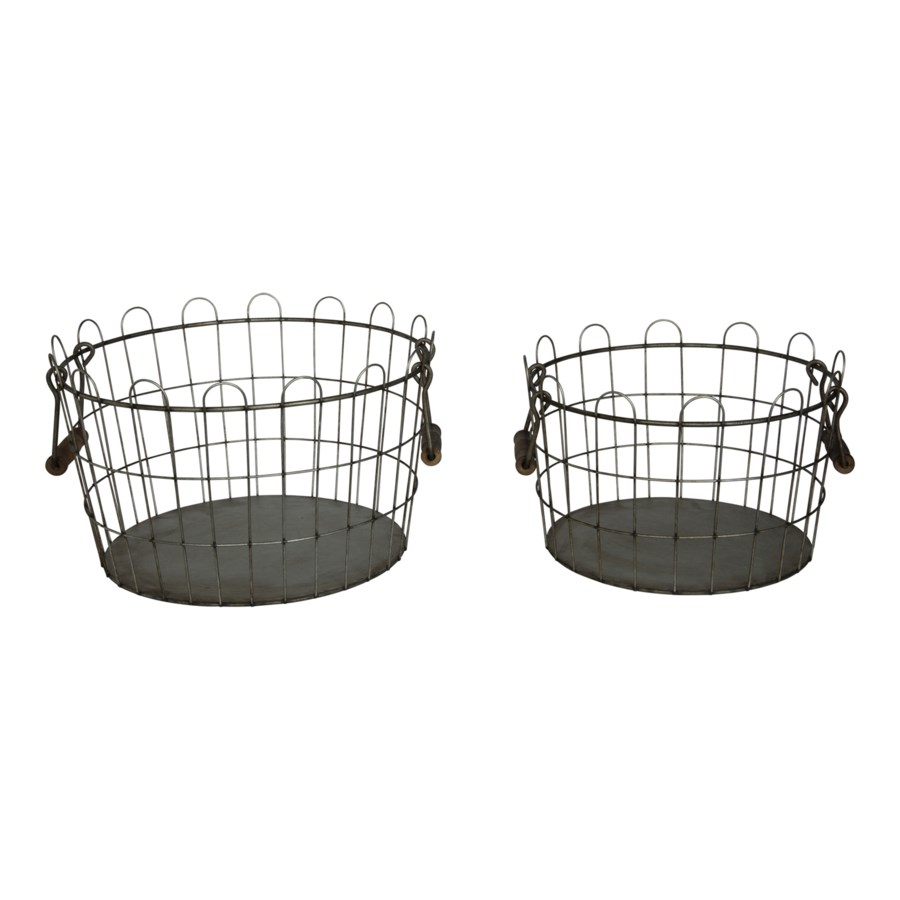 MTL. WIRE BUCKETS SET/2