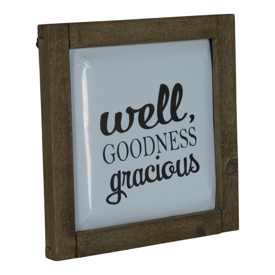 "WD./MTL. SIGN ""GOODNESS"" (1/cs)"