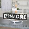 "MTL. SIGN ""FARM TO TABLE"" (6/cs)"