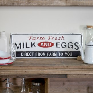 "MTL. SIGN ""FARM FRESH"" (6/cs)"