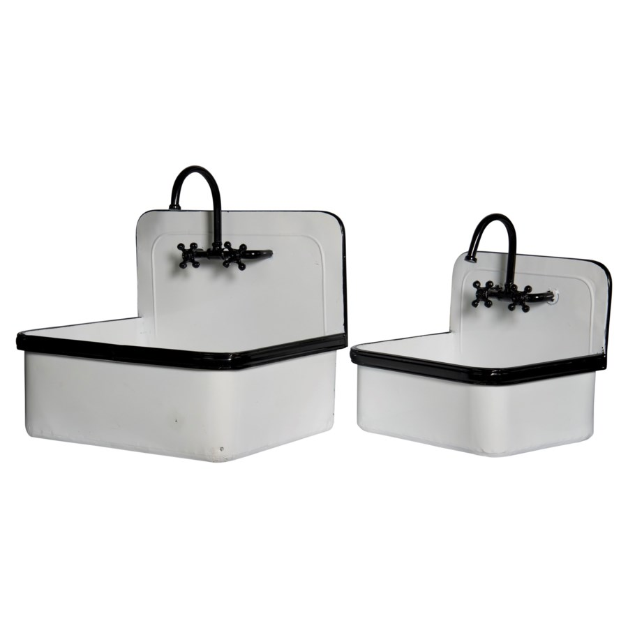 MTL. SINK PLANTERS S/2 (1/cs) (Available March  2019)