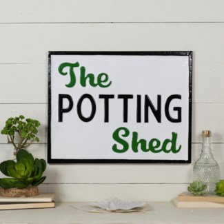 "MTL. SIGN ""POTTING SHED"" (12/cs) (Available March  2019)"