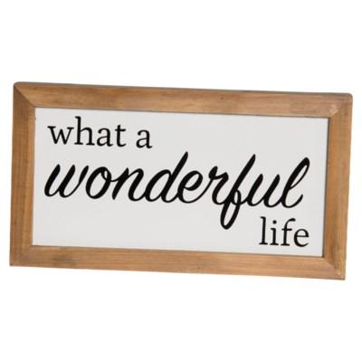 "MTL./WD. SIGN ""WONDERFUL LIFE"" (8/cs)"