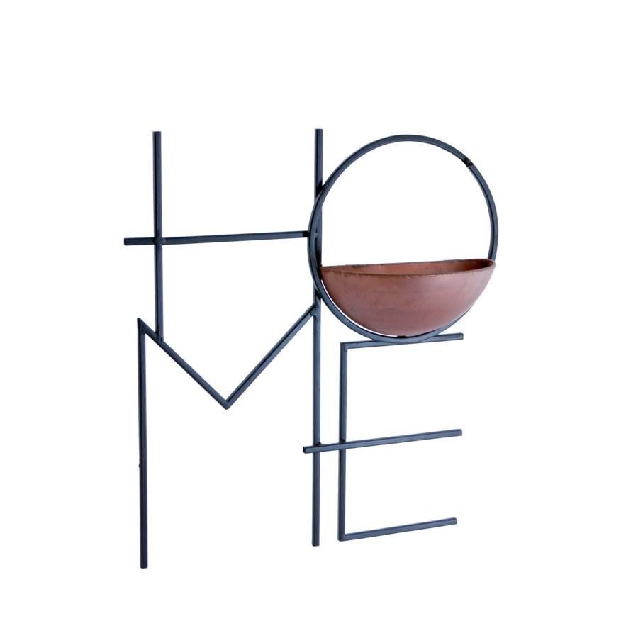 "MTL. ""HOME"" PLANTER"