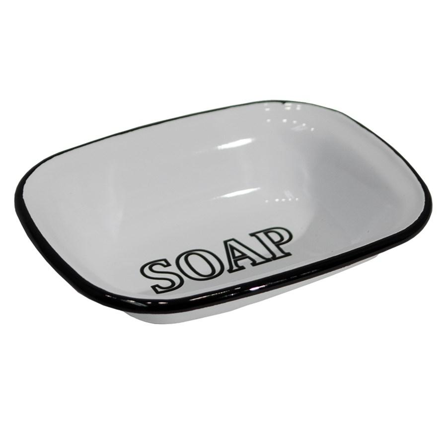 MTL. ENAMELWARE SOAP DISH