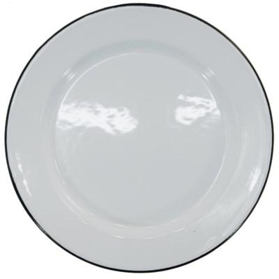 MTL. ENAMELWARE SALAD PLT BLK SET/ 4 (12sets/cs)