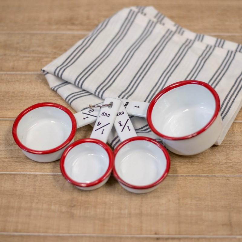 MTL. ENAMELWARE MEASURING CUPS - RED
