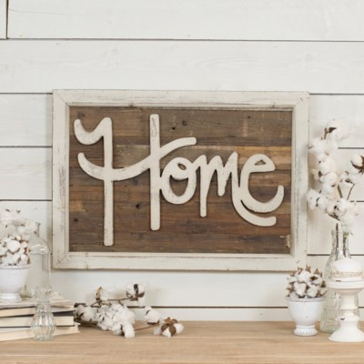 "WD. WORD ART ""HOME"" (4/cs)"
