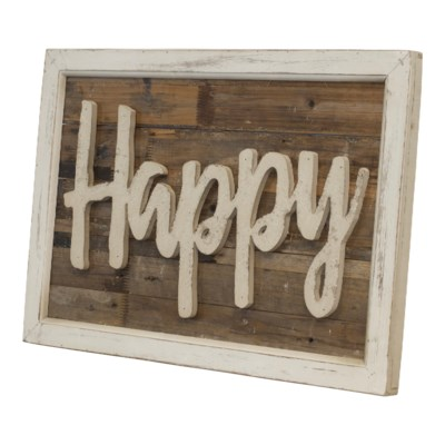 "WD. WORD ART ""HAPPY"" (4/cs)"