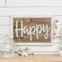 """WD. WORD ART """"HAPPY"""" (4/cs)"""
