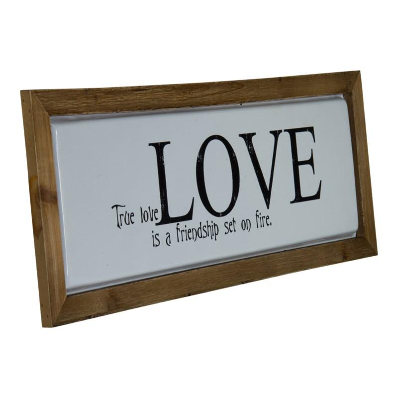 """WD./MTL. SIGN """"TRUE LOVE"""""""