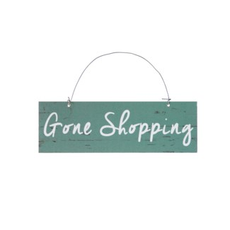 |WD. 2.5X7 SIGN BLUE - GONE SHOPPING (48/cs)|