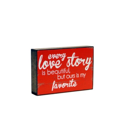 WD. 6X9 BOX RED - LOVE STORY (24/cs)