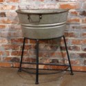 MTL. GALVANIZED HALF TUB ON STAND (1/cs)