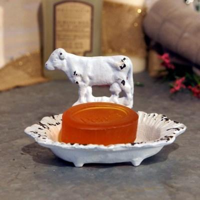 MTL. SOAP DISH COW (12/cs)