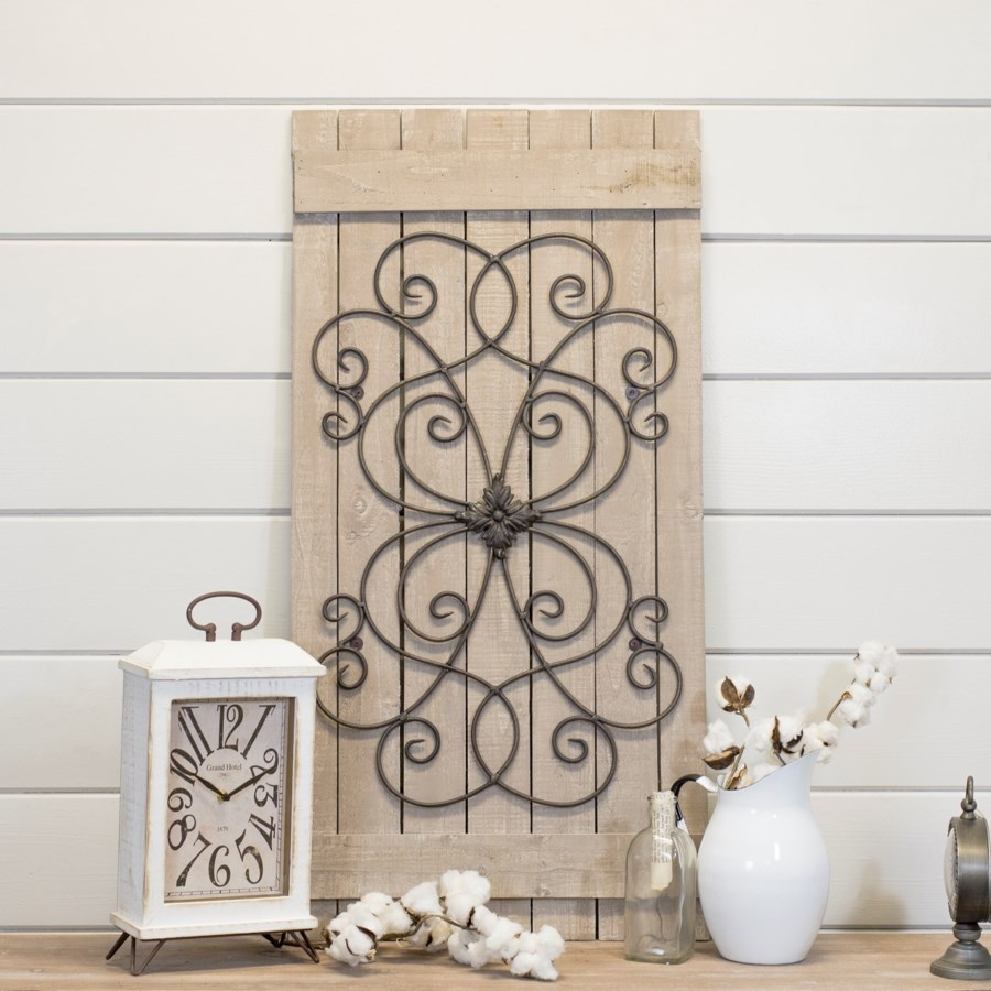 |WD./MTL. WALL DECOR (4/cs)|