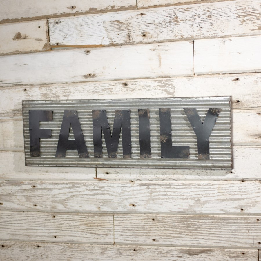 "|MTL. WORD ART ""FAMILY"" (4/cs)