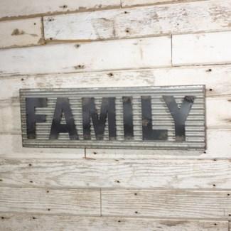 "|MTL. WORD ART ""FAMILY"" (4/cs)|"