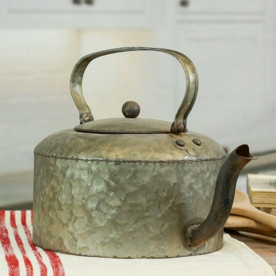 MTL. DECORATIVE TEA POT (12/cs)