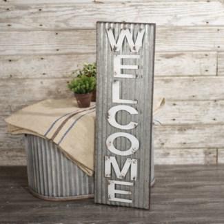 """MTL. WORD ART """"WELCOME"""" (4/cs)"""