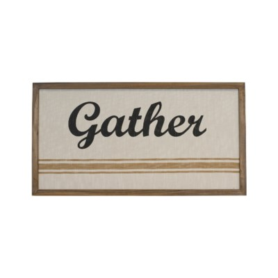"|WD. SIGN ""GATHER"" (6/cs)