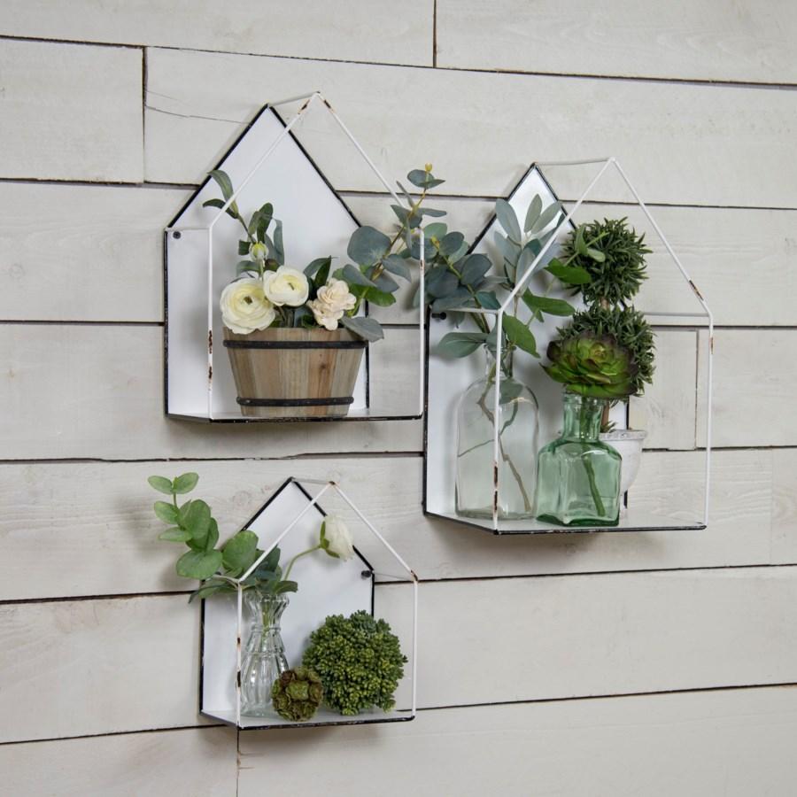 MTL. WALL PLANT HOLDER SET/3 (4 sets/cs)