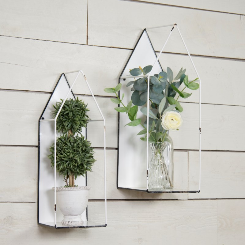 |MTL. WALL PLANT HOLDER SET/2|