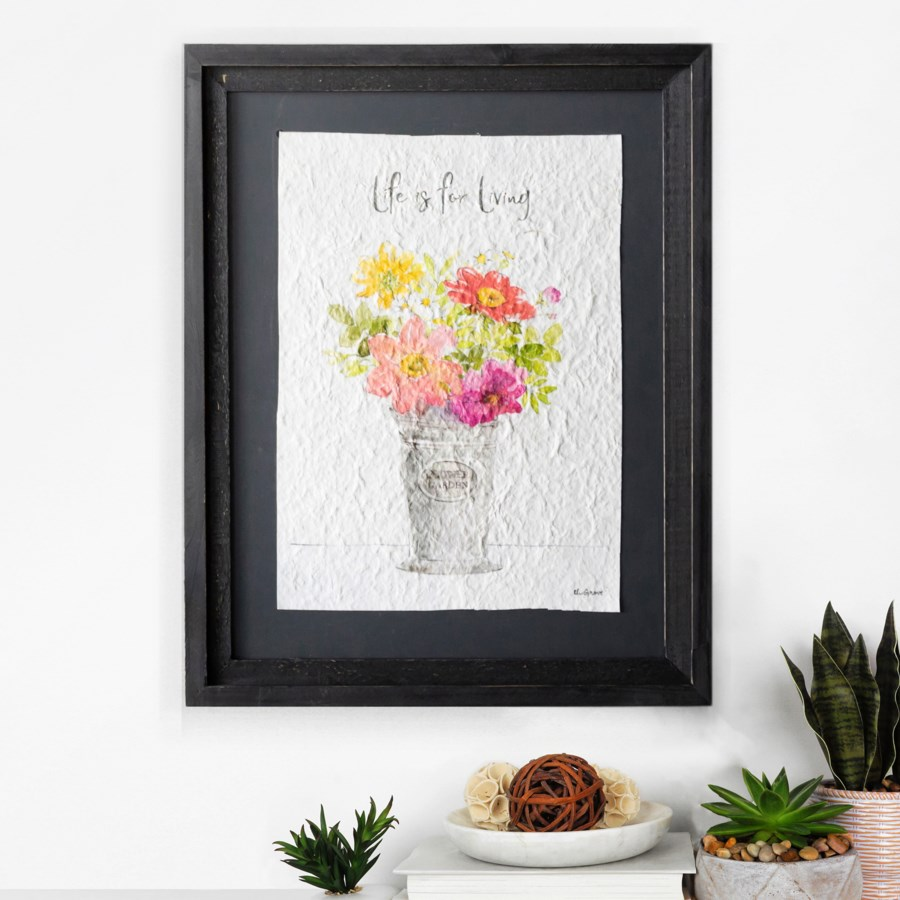 WD. FRAMED FLORAL ART