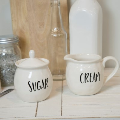 "CER. ""CREAM/SUGAR"" CUPS (12sets/cs)  (Available Jan 2019)"