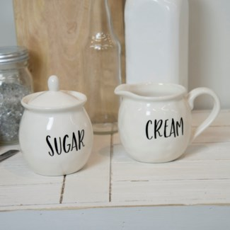 "CER. ""CREAM/SUGAR"" CUPS (12sets/cs)  (Available Jan 2019)"