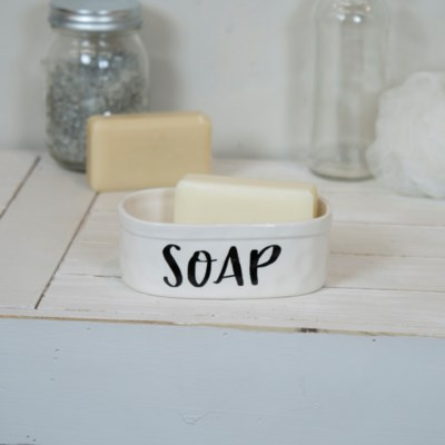 CER. SOAP DISH (36/cs) (Available Jan 2019)
