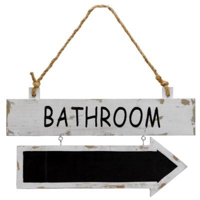 " WD. SIGN ""BATHROOM"" (24/cs) "