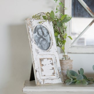 WD. TABLETOP PICTURE FRAME (5X7) - WHT (6/cs)