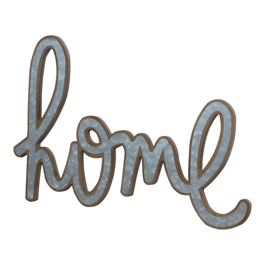 """ MTL. WORD ART """"HOME"""" (12/cs) """