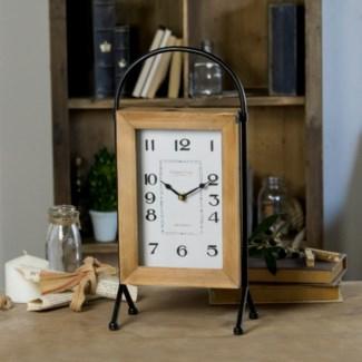 WD./MTL. TABLE CLOCK (4/cs)