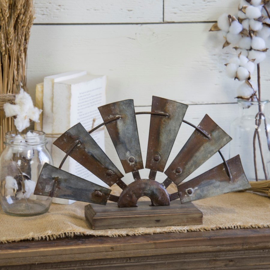 MTL. WINDMILL TABLETOP DECOR (8/cs)