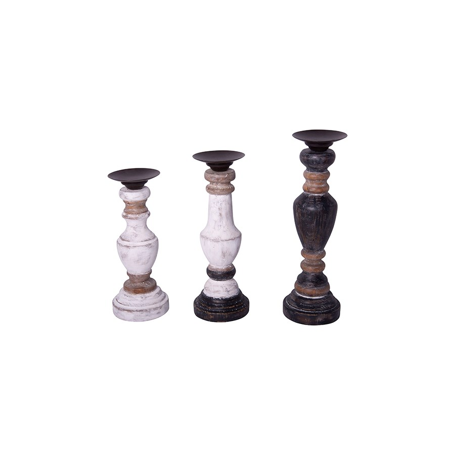 WD. CANDLE HOLDERS S/3