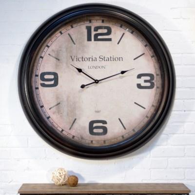 "|MTL. 36"" FRAMED WALL CLOCK WHITE|"