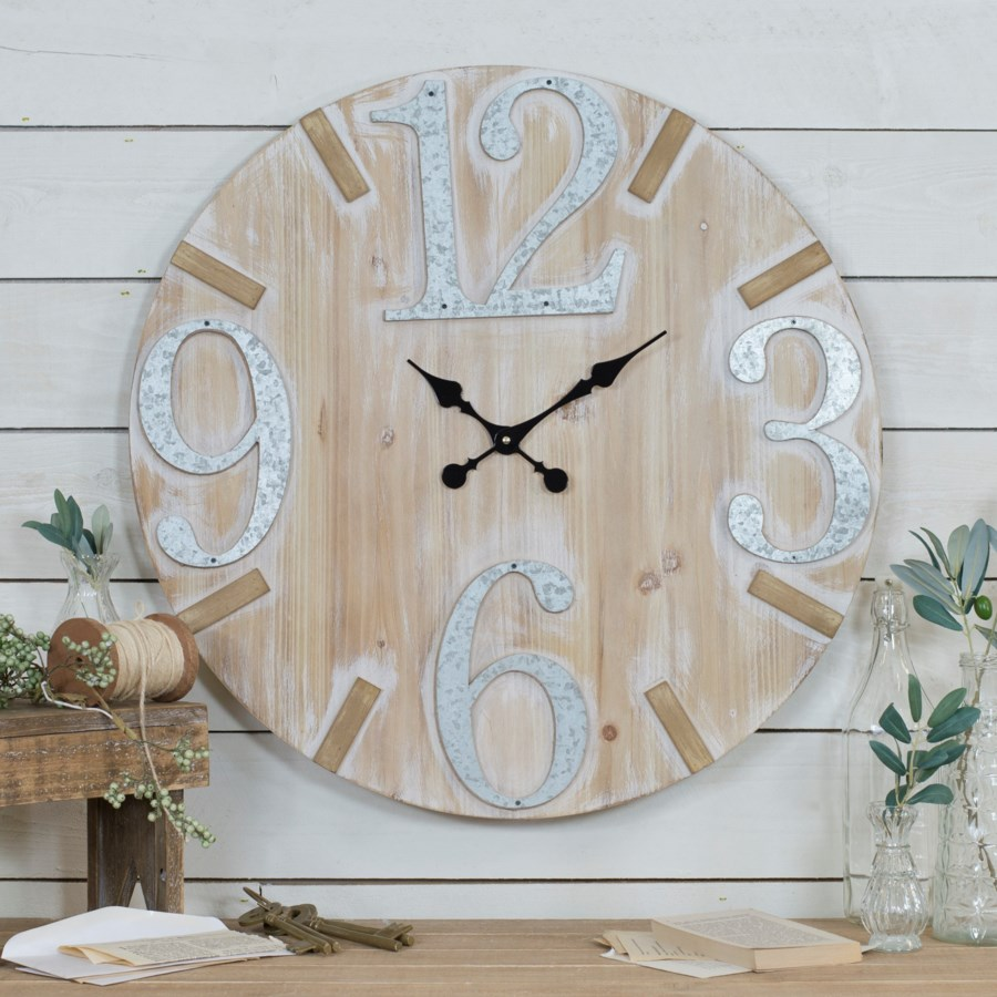 "WD./MTL. WALL CLOCK 28"" (1/cs)"