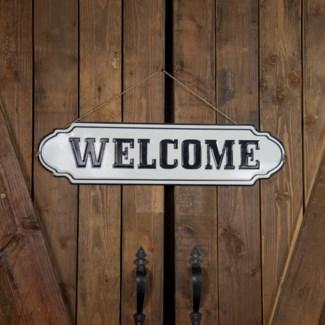 """MTL. WORD ART """"WELCOME"""" (8/cs)"""