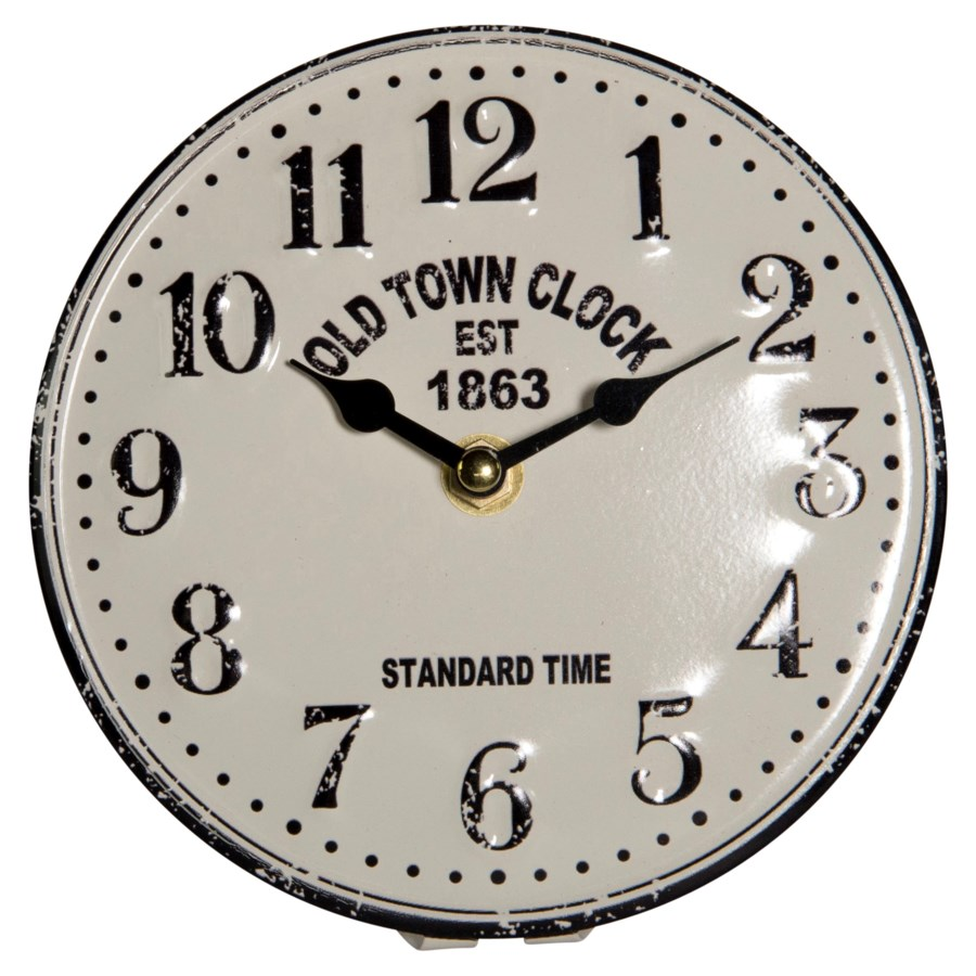 """MTL. TABLE CLOCK """"OLD TOWN"""""""