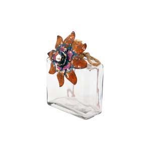  GLASS JAR w/FLOWER (24/cs) 