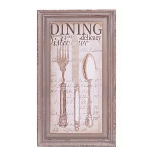 """ WD. FRAMED PRINT """"DINING""""  (6/cs) """