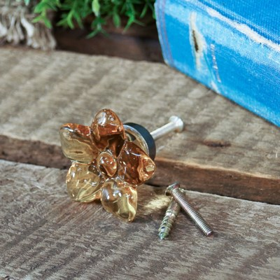 |RESIN YELLOW FLOWER KNOB (96/cs)|
