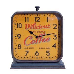 |MTL. MANTLE CLOCK 'COFFEE' (3/cs)|