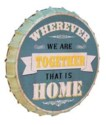 |MTL. BOTTLE CAP 'HOME' BLUE (8/cs)|