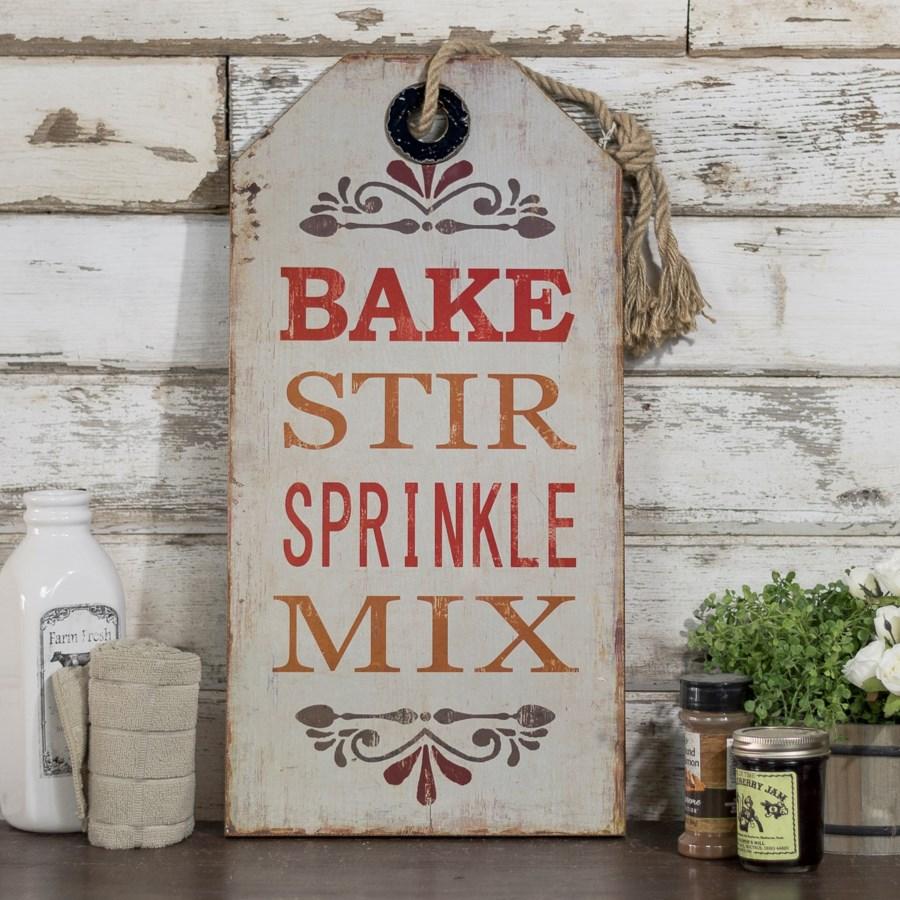  WD. SIGN W/ROPE 'BAKE' (6/cs) 