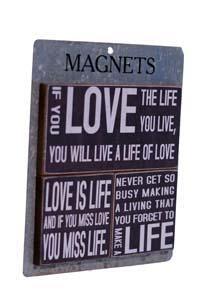  WD. MAGNETS LG SET/3 'LOVE' (24 sets/cs) 