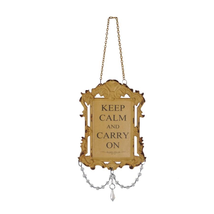 |MTL. JEWELED SIGN 'KEEP CALM' (96/cs)|